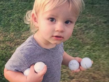 Whose Son Scooped Up Four Golfballs?