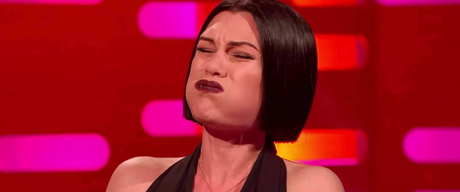 "PHOTO: Singer Jessie J sings with her mouth closed on ""The Graham Norton Show"" in a video posted to the BBCs official YouTube account on Jan. 16, 2015."
