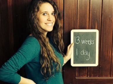 PHOTO: Jill Dillard posted this photo on Sept. 17, 2014 with the caption, In our second trimester now! Baby Dilly is now the size of a fuzzy sweet Georgia peach!