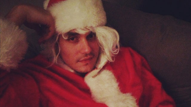 PHOTO: Katy Perry tweeted this image of John Mayer with caption, &quot;Santa Baby,&quot; Dec. 26, 2012.