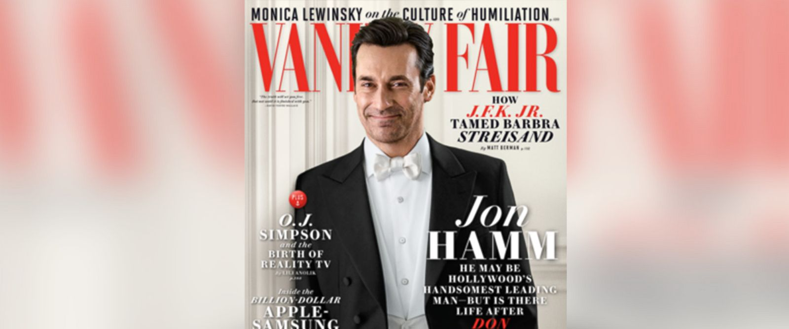 PHOTO: Jon Hamm is pictured on the June 2014 cover of Vanity Fair.