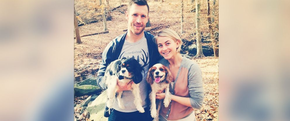 "PHOTO: Julianne Hough posted this photo to Instagram on Dec. 2, 2014 with the caption, ""A little nature walk with the loves of my life! Amazing goal tonight sweetheart! @brookslaich xoxo."""