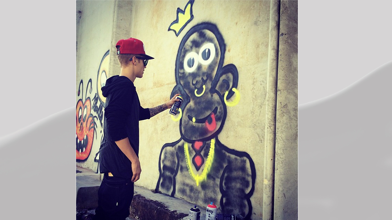 PHOTO: Justin Bieber posted this image of graffiti to his Instagram account Nov. 7, 2013.