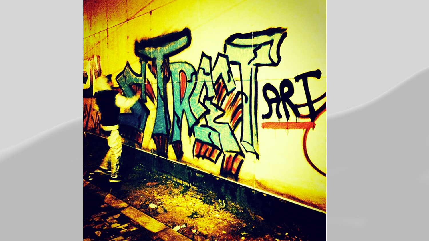 PHOTO: Justin Bieber posted this image of graffiti to his Instagram account Oct. 31, 2013.