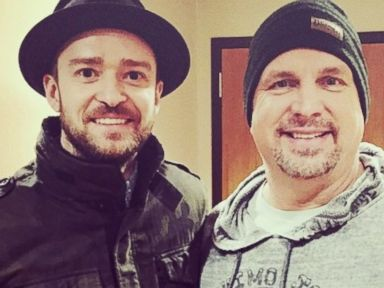 PHOTO: Justin Timberlake posted this photo to his Instagram on Dec. 4, 2014 with the caption, One of my IDOLS. Garth... You are a MASTER of your craft. I am in awe of you, still.