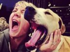 Kaley Cuoco Acts a Fool With Her Pup