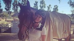 Kaley Cuoco Bonds with Her Horse