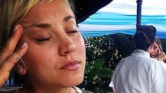 Kaley Cuoco Grabs Some Shuteye with Her Pup