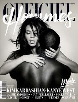 Kim and Kanye Post for L'Officiel Hommes