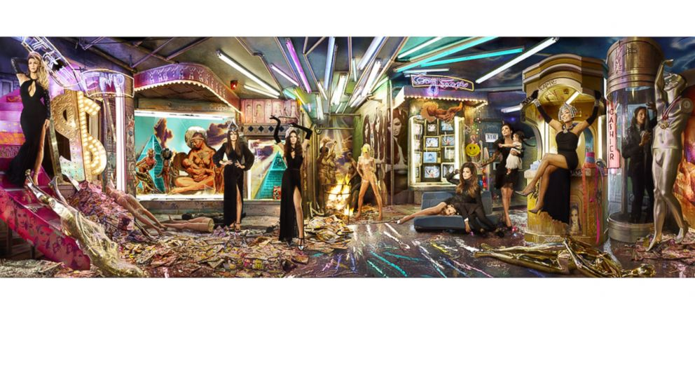PHOTO: The Kardashian Christmas card was shot by David LaChappelle. Keeping Up with the Kardashians: A Very Merry Christmas will air on Dec. 2, 2013.