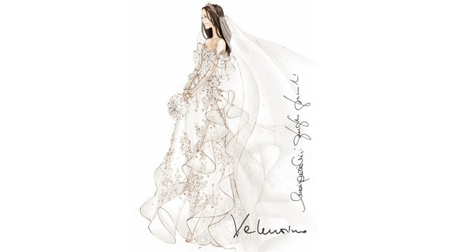 "PHOTO: Valentinos Maria Grazia Chiuri and Pier Paolo Piccioli designed a whimsical, ""blossoming"" dress for Middleton -- fit for a princess."