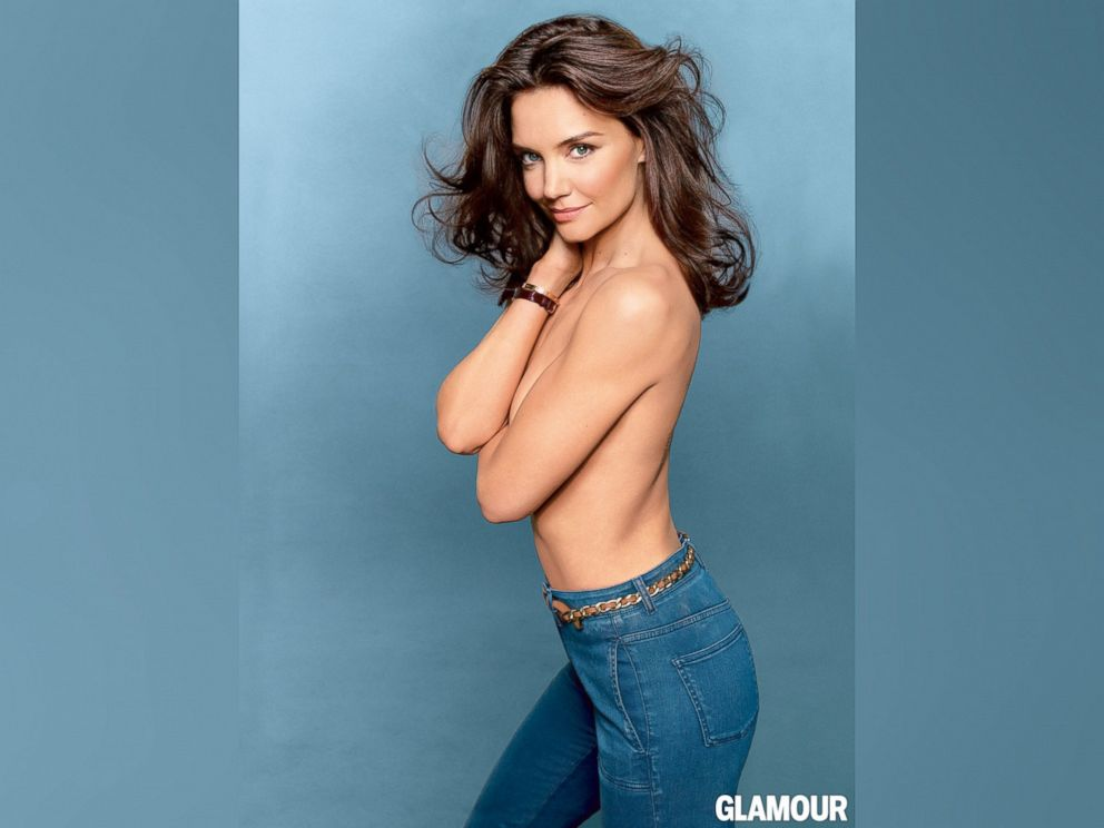 PHOTO: Katie Holmes appears in the August, 2014 issue of Glamour Magazine.