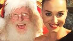 Katy Perry Snaps a Photo with Santa