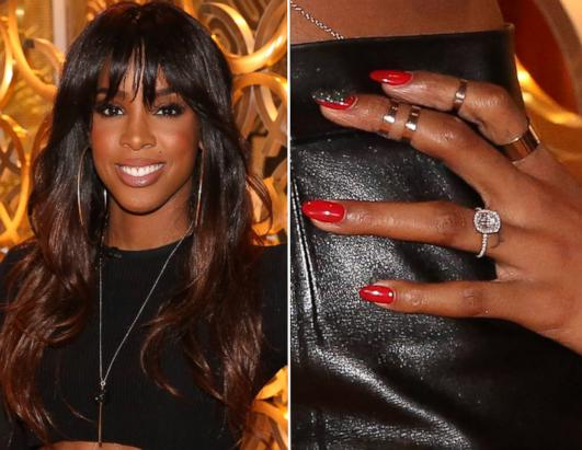 Wow! Kelly Rowland Flaunts Huge Diamond Ring!