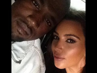 Photos: Kanye and Kim Cuddle Up