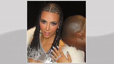 "PHOTO: Kim Kardashian posted this image of herself on Instagram in February 2013 with caption, ""Bo Derek braids."""