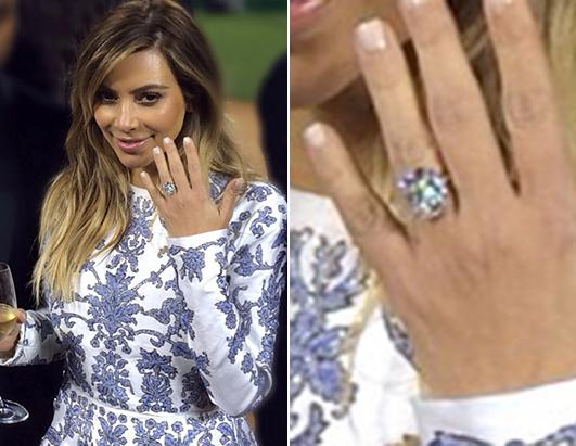 picture of kim kardashians new engagement ring