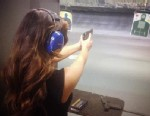 PHOTO: Kim Kardashian posted a picture of her at the gun range through her Twitter, Nov. 2012.