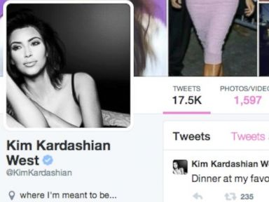 PHOTO: The Twitter page of Kim Kardashian.