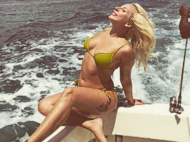 Lady Gaga Shows Off Her Tattoos in a Tiny Bikini
