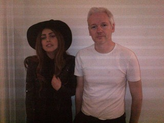 Gaga Dresses as Witch to Meet Assange