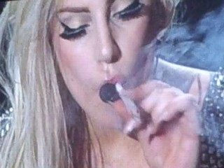 Photos: Gaga Smokes Weed On Stage