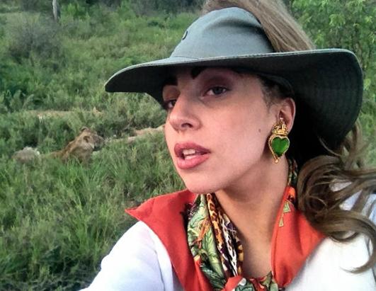 Lady Gaga Goes on Safari