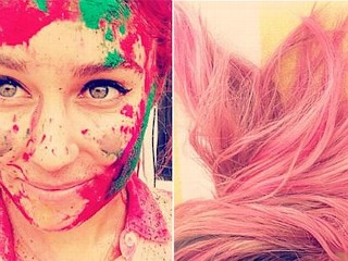 Photos: Lauren Conrad Accidentally Dyes Her Hair Pink