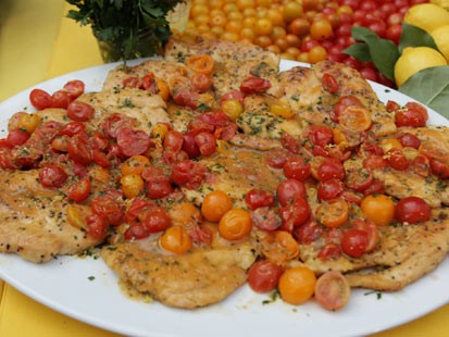 Fabio Viviani's lemony chicken recipe is shown here.