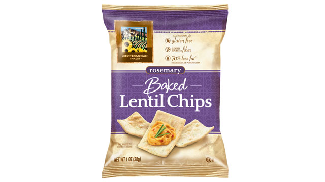 PHOTO: Mediterranean Snacks' lentil chips are shown here.