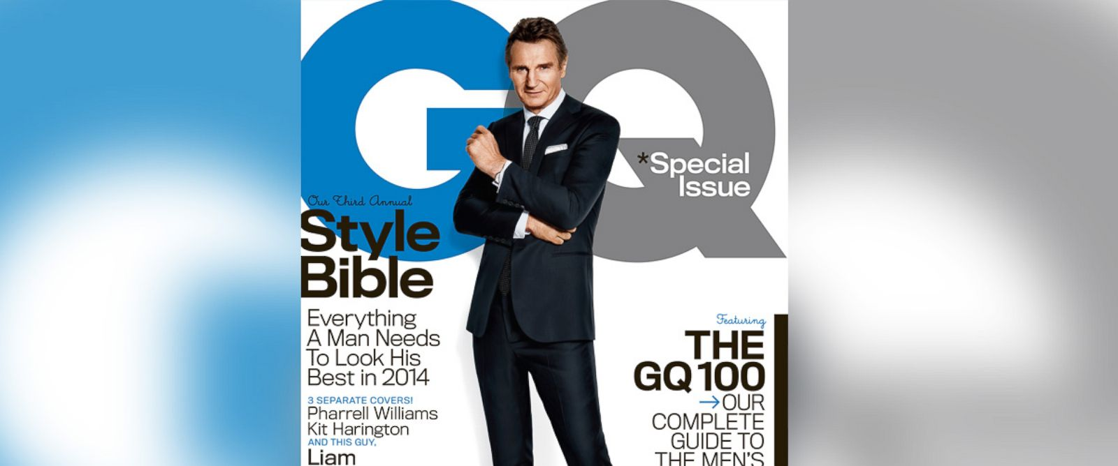 PHOTO: Liam Neeson appears on the April 2014 cover of GQ.