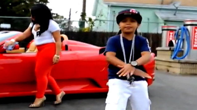 "PHOTO: A still from 9-year-old rapper Lil Poopys controversial video ""Pop That Remix."""