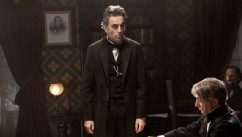 "PHOTO: Daniel Day-Lewis, center rear, as Abraham Lincoln, in a scene from the film, ""Lincoln."""