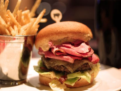 PHOTO: Holsteins Luck of the Irish burger is shown here.