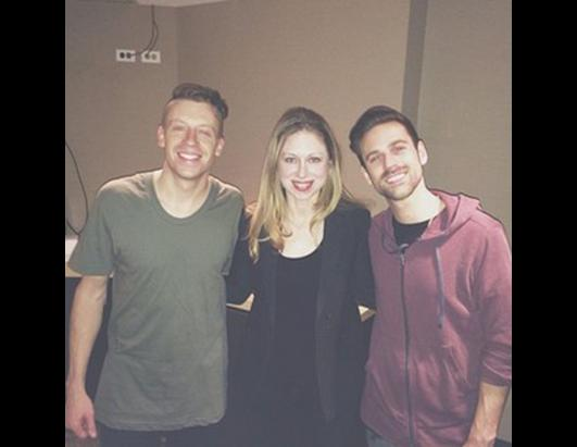 Chelsea Clinton with Macklemore