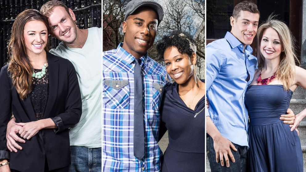 "PHOTO: Doug Hehner and Jamie Otis, Monet Bell and Vaughn Copeland, and Jason Carrion and Cortney Hendrix are seen from the FYI show, ""Married at First Sight""."