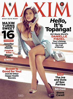 Danielle Fishel Poses for Maxim