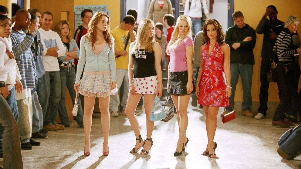 "Lacey Chabert, Rachel McAdams, Lindsay Lohan and Amanda Seyfried appear in the 2004 film, ""Mean Girls""."