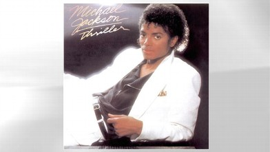 "PHOTO: The cover of Michael Jackson's ""Thriller"" is shown."