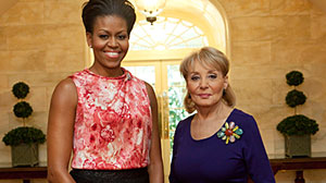 Photo: First Lady Michelle Obama and Barbara Walters