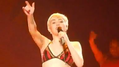 PHOTO: Why Miley Cyrus Performed in Underwear