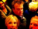 "PHOTO: Jessie Tyler Ferguson tweeted this photo as the cast member of ABCs ""Modern Family"" found themselves trapped in a crowded elevator for nearly an hour on their way to headline a fundraiser in Kansas City, Mo., March 1, 2013."