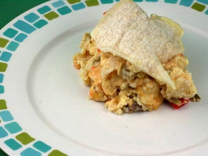 Stephanie O'Dea's slow cooker breakfast is shown here.
