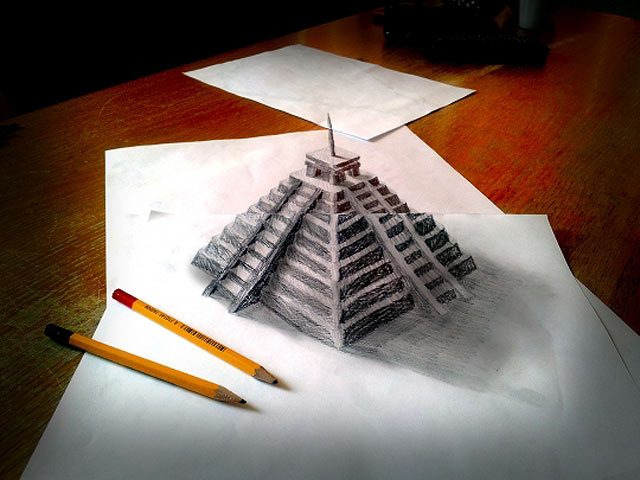 ht myan temple jef 130620 vblog 3 D Pencil Sketches Leap Off the Page