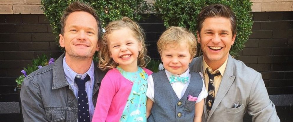 "PHOTO: This image was posted to Neil Patrick Harris Instagram account on April 5, 2015 with the text, ""Happy Easter from the Burtka-Harris bunnies and one lil chick!"""