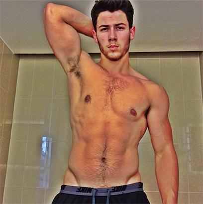 Nick Jonas Shows Off His Chest