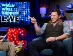 PHOTO: Andy Cohen and Nick Lachey on Watch What Happens Live.