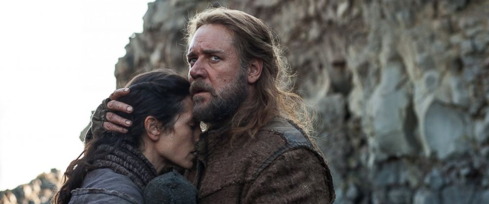 """PHOTO: Jennifer Connelly, left, and Russell Crowe, right, are pictured in a still from """"Noah."""""""