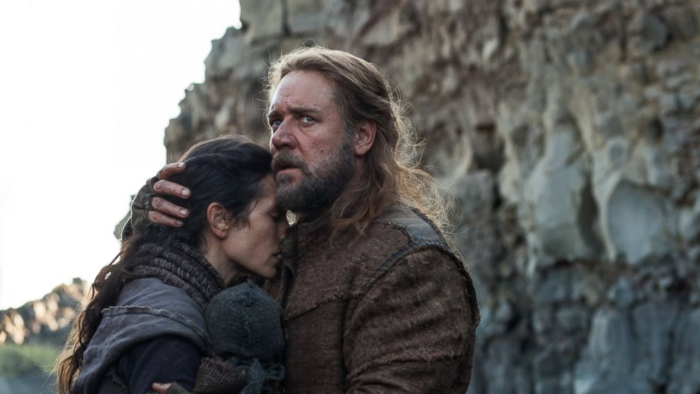 "PHOTO: Jennifer Connelly, left, and Russell Crowe, right, are pictured in a still from ""Noah."""