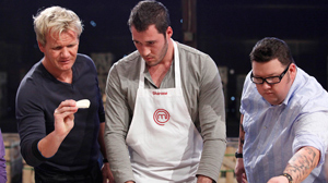 "PHOTO Gordon Ramsay converses with contestants on ""MasterChef,"" the newest additions to the ever-expanding cornucopia of food-centric TV shows."
